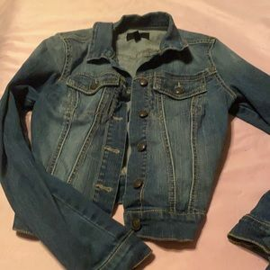 Jessica Simpson blue Jean jacket XS
